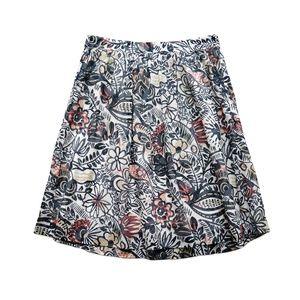 New LOFT Floral Pattern Lightweight Cotton Skirt 6